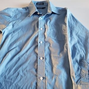 Izod Light Blue Button Down Dress Shirt
